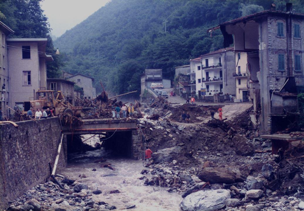 Alluvione Versilia, 19 giugno 1996 - FONTE: blog Fiabe e Frane
